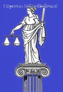 Justizia auf Säule