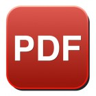 pdf glossy web icon on white background